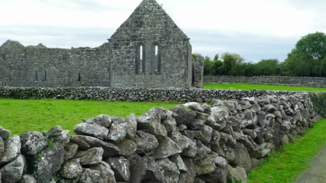 Augustinian Abbey At Kilmacduagh Monastery In County Galway video
