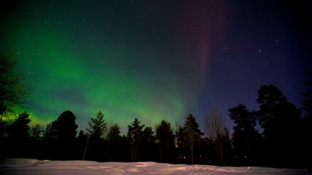 aurora borealis northern lights - norrbotten bildbanksvideor och videomaterial från bakom kulisserna