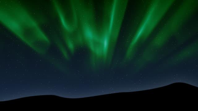 aurora borealis (computer generated) - realtid bildbanksvideor och videomaterial från bakom kulisserna