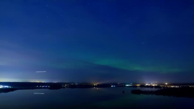 aurora borealis - sweden map bildbanksvideor och videomaterial från bakom kulisserna