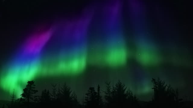 Aurora Borelis - non flickering northern Light 4k video