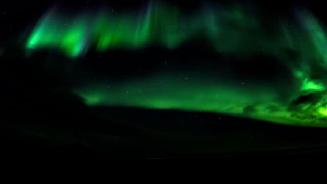 北極のオーロラ。 ビデオ