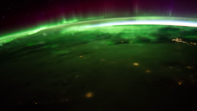 Aurora over the Earth 4K video