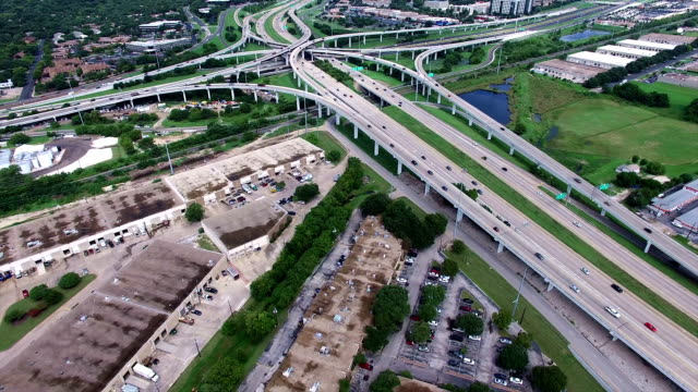 AERIAL: Austin Texas Interchange Highway 183 and Mopac Express way video