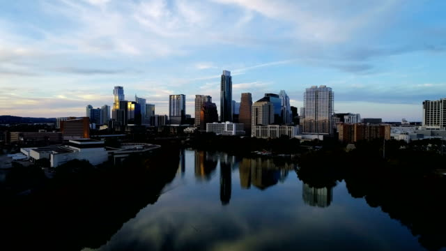 Austin , Texas , USA - Perfect Reflections off Lady Bird Lake