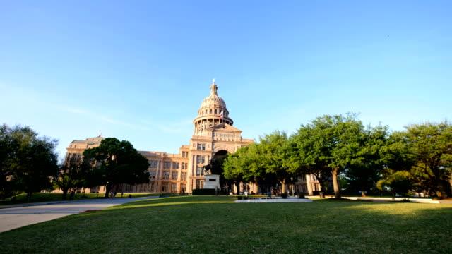 オースティン, テキサス州: 州議会議事堂 - 柱頭点の映像素材/bロール