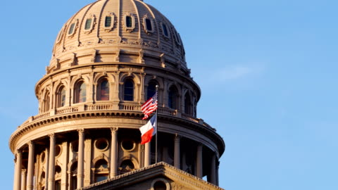 vídeos de stock e filmes b-roll de austin, tx: state capitol building - capitais internacionais