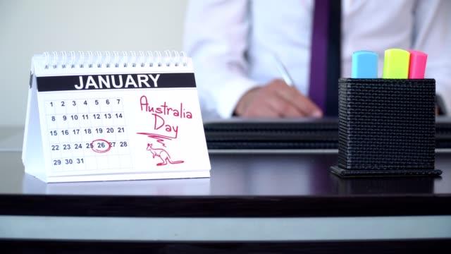 australia day - speciella dagar - calendar workout bildbanksvideor och videomaterial från bakom kulisserna