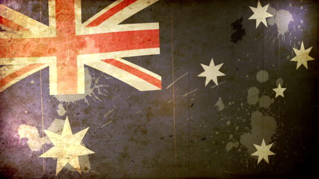 australia flag - grunge. hd - dirty money bildbanksvideor och videomaterial från bakom kulisserna