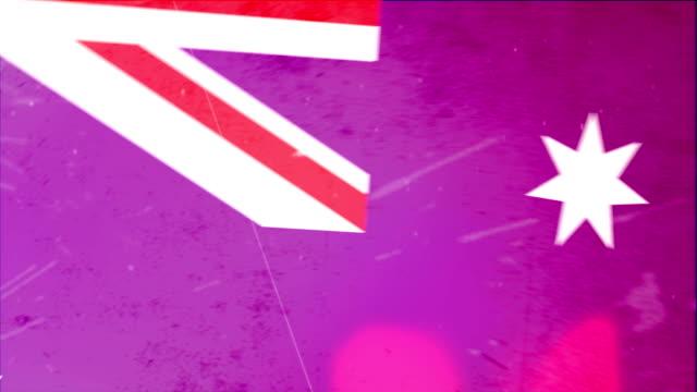 Australia Flag - Grunge Moves. HD video
