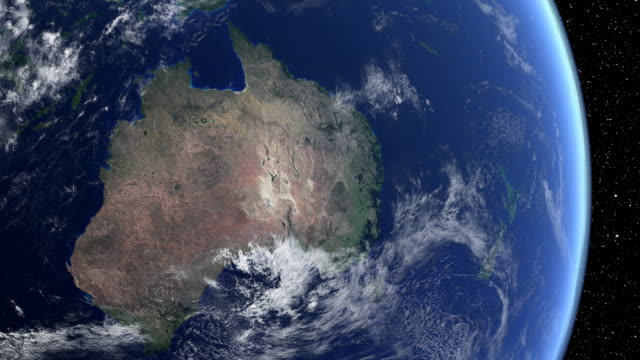 Australia from space video