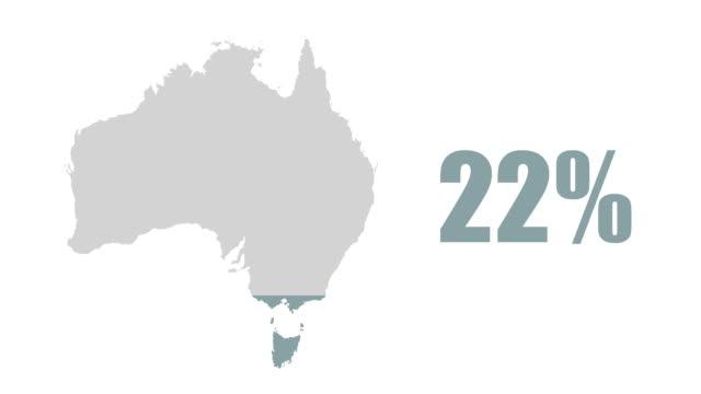 Australia map 100% info graphic video