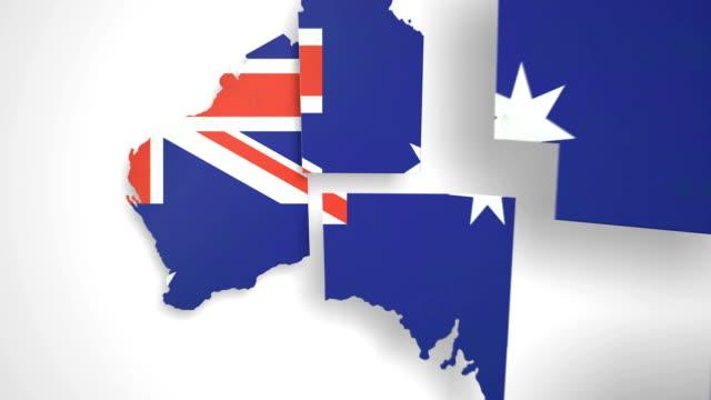 Australia Map - States Combine video