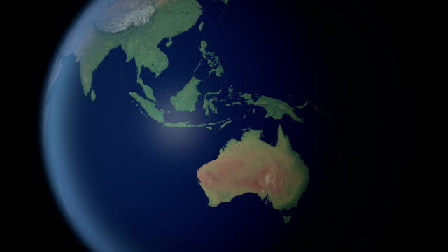 австралия, требующая после earth увеличить (с альфа-матовый) - линия экватора стоковые видео и кадры b-roll