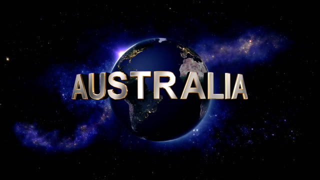 Australia title - the Earth from space showing all they beauty video