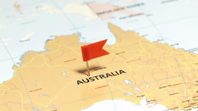 vidéos et rushes de australie avec goupille - épingle