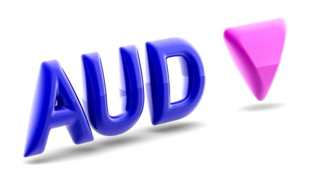 Australian dollar sign in white background. 3D Illustration.