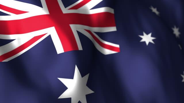 Australian Flag High Detail - Looping video