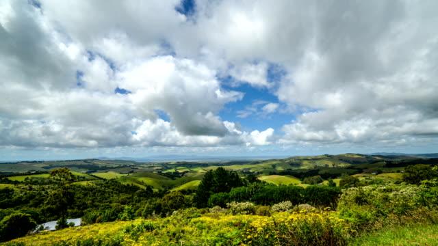 Australian Landscape and cloudscape panning video