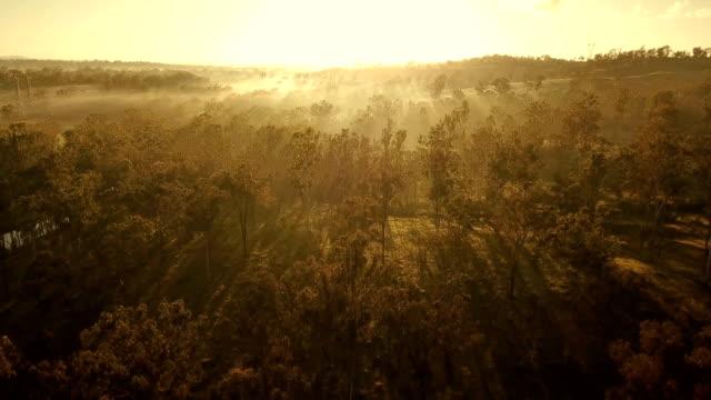 サバンナの上オーストラリア日没 - 絶景点の映像素材/bロール