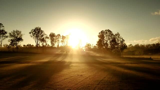 australischen sonnenuntergang über savannah - savanne stock-videos und b-roll-filmmaterial