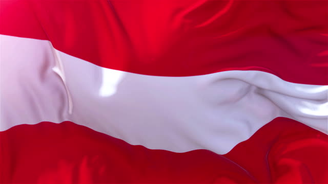 vídeos de stock e filmes b-roll de austria flag in slow motion classic flag smooth blowing in the wind on a windy day rising sun 4k continuous seamless loop background - democracy illustration