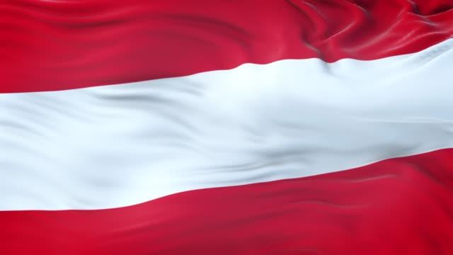 vídeos y material grabado en eventos de stock de bandera de austria ondeando en el viento con textura de tela muy detallada. bucle sin costuras - austria