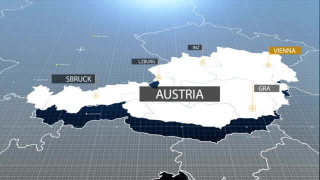 Austria map with label then with out label video