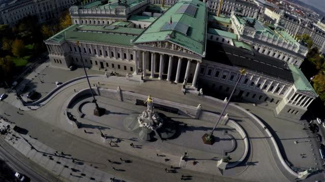 vídeos y material grabado en eventos de stock de parlamento austríaco - austria