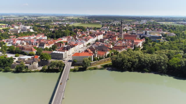 Austrian Town of Braunau am Inn as Viewed From Germany