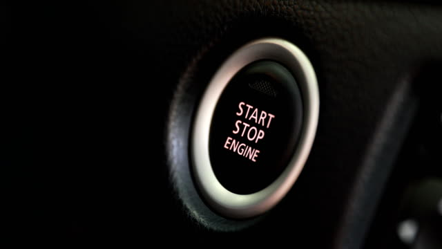 auto car engine start  button for keyless entry auto car engine start  button for keyless entry car key stock videos & royalty-free footage