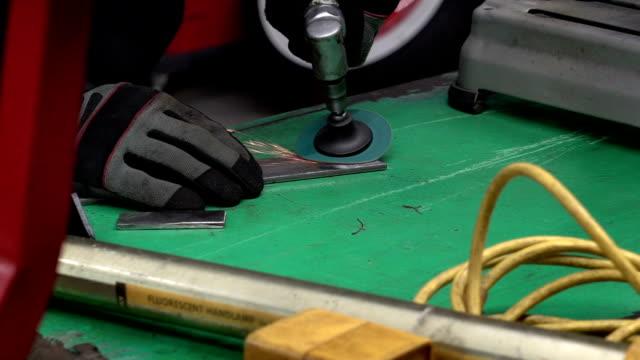 Auto Mechanic Metal Work Slow Motion video