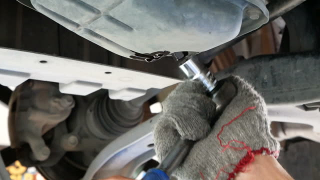 Auto mechanic working video