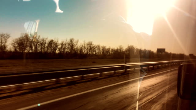 auto quickly rides on the road 66 America freedom journey. concept travel by car lifestyle - vídeo