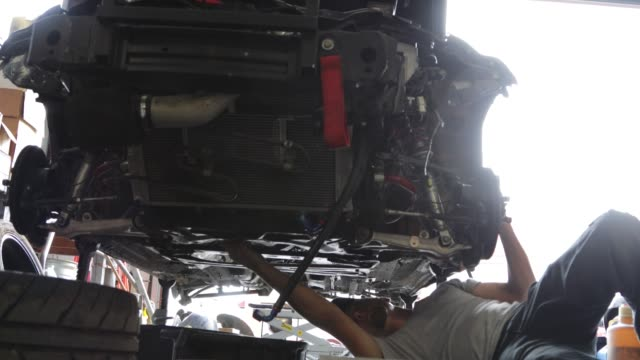 Auto Repair Garage with Mechanic video