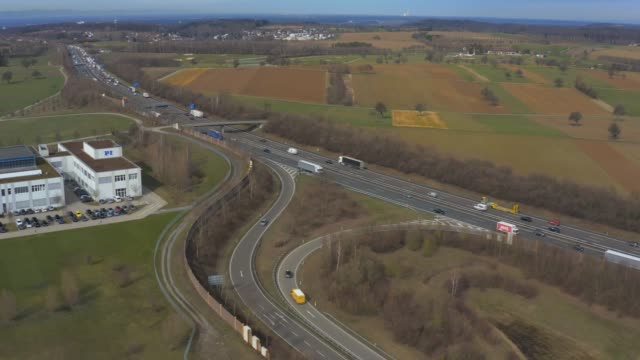 autobahn a8 close to karlsruhe - autobahn video stock e b–roll