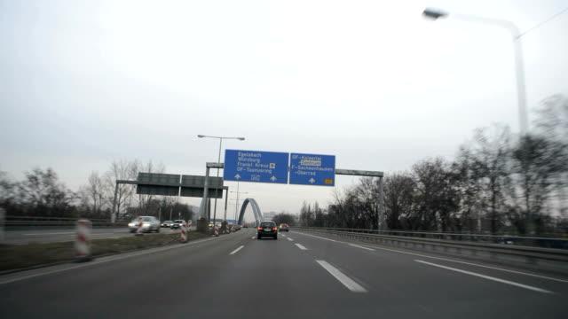 Autobahn, German Motorway, Time Lapse Time Lapse of a german motorway in the evening. autobahn stock videos & royalty-free footage