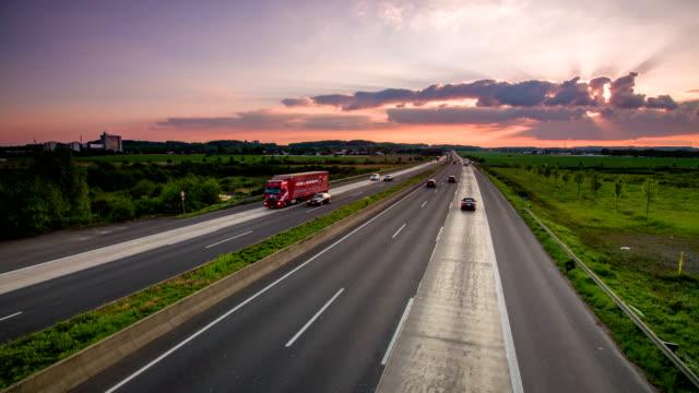 Autobahn Cars driving on german highway autobahn stock videos & royalty-free footage