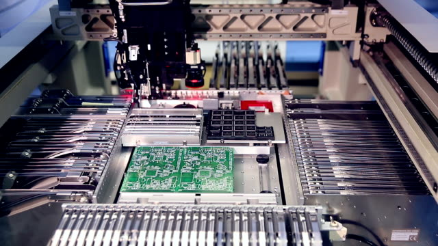 Automated Circut Board machine Produces Printed digital electronic board