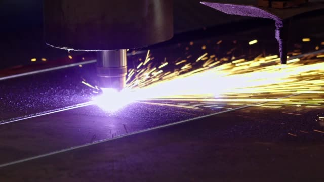 Automated plasma cutter Automated industrial plasma cutter iron metal stock videos & royalty-free footage