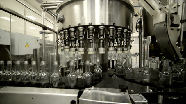Automatic line of bottling of alcoholic beverages video