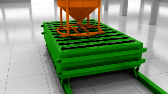 Automatic Process Of The Production Of Concrete Stairs video