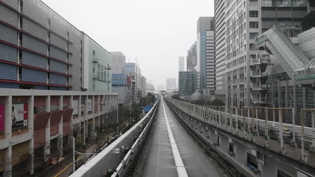 Automatic train in Tokyo , Japan Automatic train in Tokyo , Japan subway train stock videos & royalty-free footage