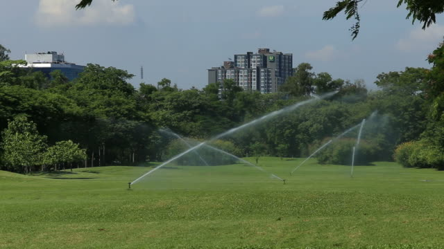 automatic watering system with tower view