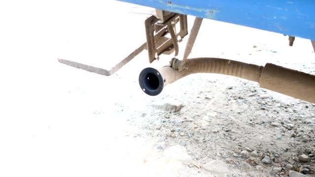 vídeos de stock e filmes b-roll de automobile exhaust in old car - exhaust white background