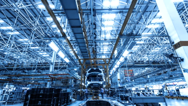 Automobile factory production equipment Automobile factory production equipment vehicle part stock videos & royalty-free footage