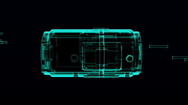 Automobile Technology. car compressor  X-ray image hold view. video
