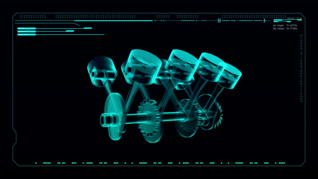 Automobile Technology. Engine piston  X-ray Top view. video