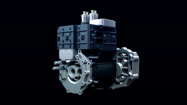 Automobile Technology. gathered parts, making Engine. video