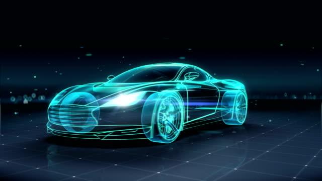 自動車技術。車を実行します。360 x 線で見た。4 k サイズの映画。 - 自動運転車点の映像素材/bロール